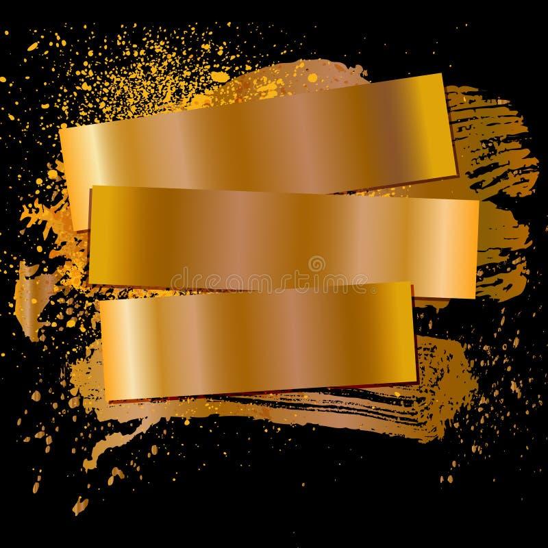 Guld för fläck 07 vektor illustrationer