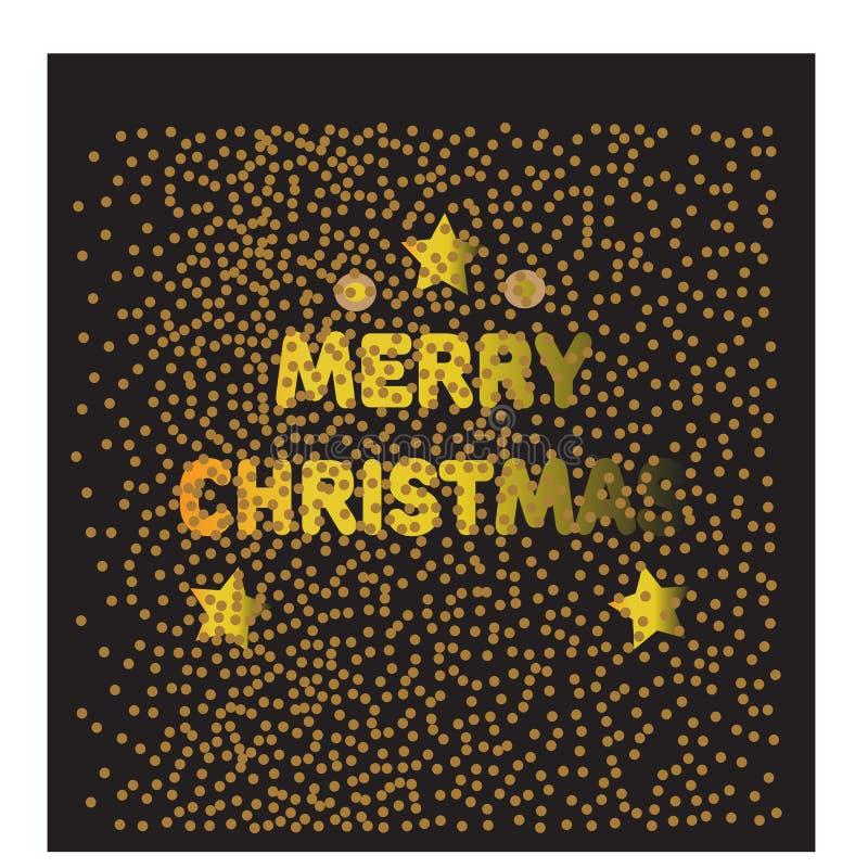 guld för mappen för eps för 8 bakgrundsjul inkluderade snowflakesvektorn Vektorillustration för julaffischer, symboler, julhälsni stock illustrationer