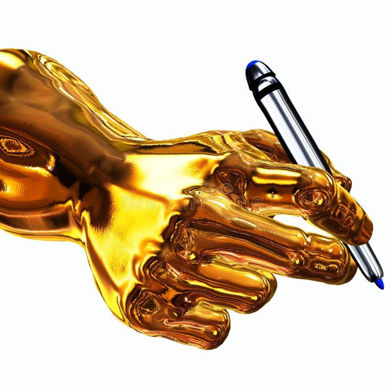 guld- författare stock illustrationer