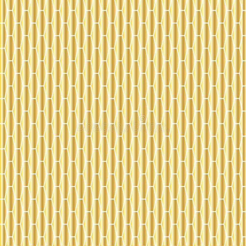 Guld förlängd sexhörningsmodell vektor illustrationer