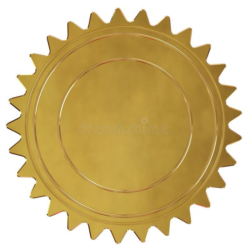 Guld- försegla eller medaljen stock illustrationer