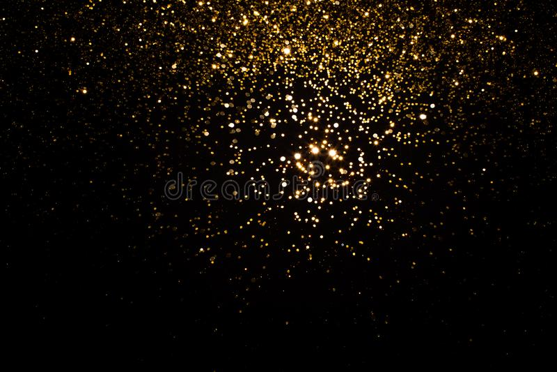 Guld- falla mousserar royaltyfria foton