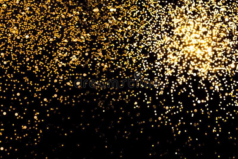 Guld- falla mousserar royaltyfri bild