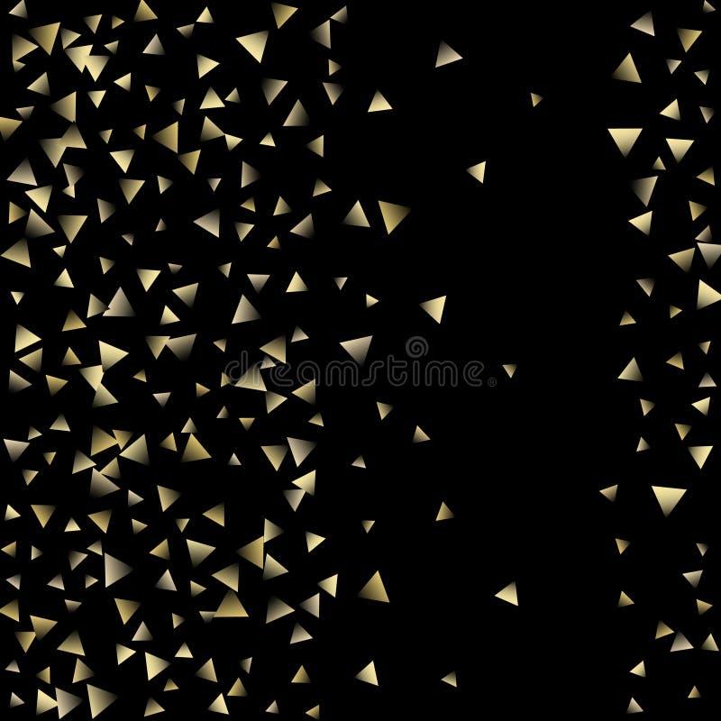 Guld- fallande konfettitrianglar vektor illustrationer