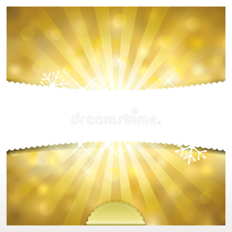 Guld- feriebakgrund stock illustrationer
