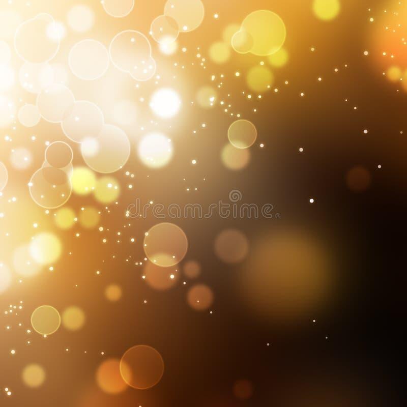 Guld- festlig julbakgrund stock illustrationer