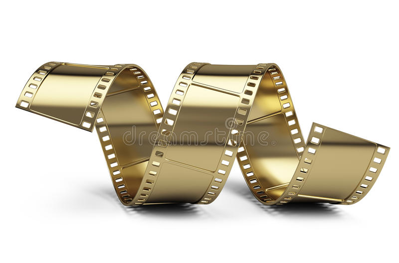 guld- film royaltyfri illustrationer