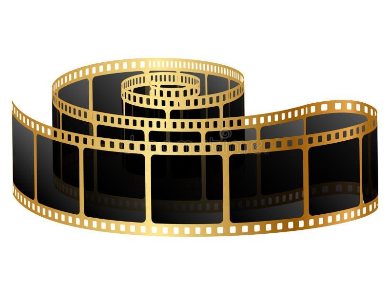 Guld- filma royaltyfri illustrationer