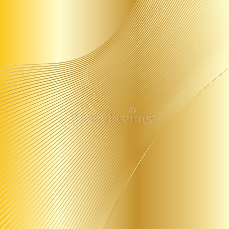 Guld firar bakgrund royaltyfri illustrationer