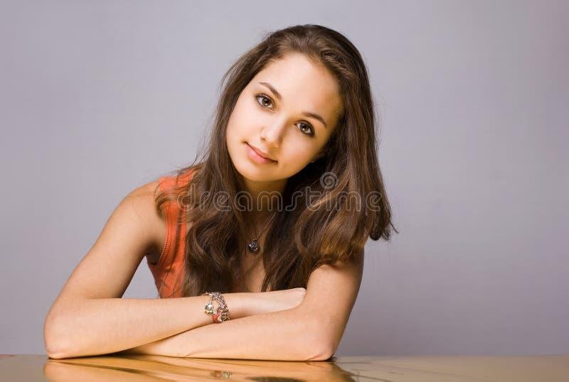 Guld- flicka. arkivfoto