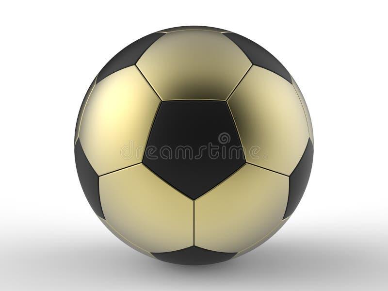 guld- fotboll för boll stock illustrationer
