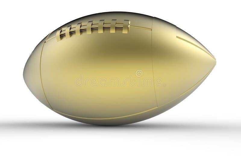 Guld- fotbolltrofé royaltyfria bilder