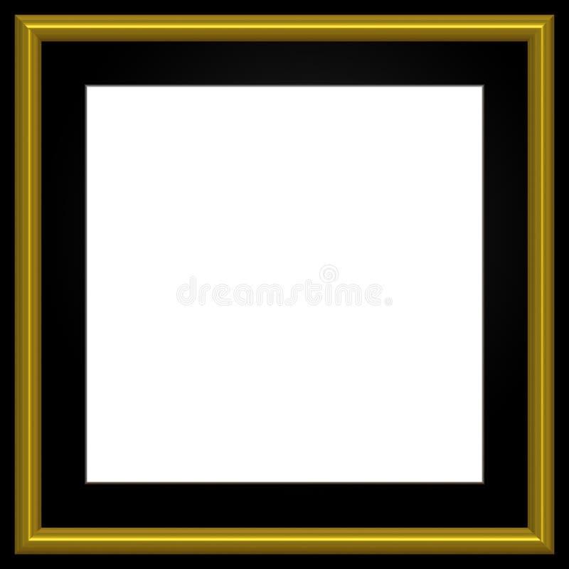 guld- fotofyrkant för ram royaltyfri illustrationer
