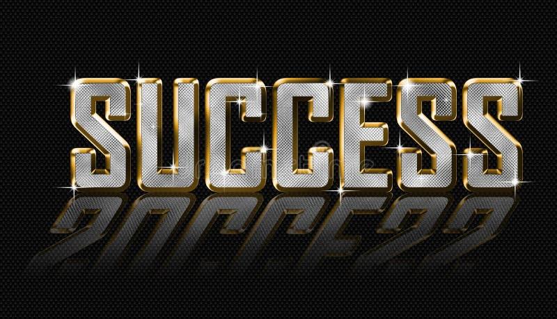 Guld- framgångbokstäver stock illustrationer