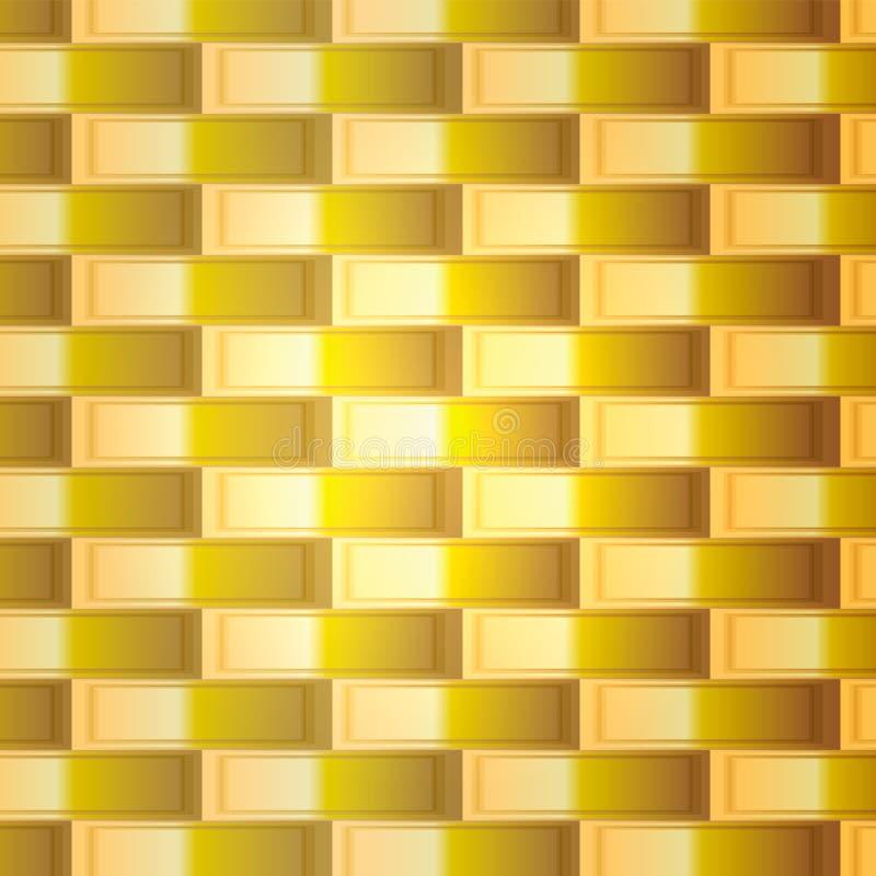 Guld- galler för vektor med fyrkantigt celler och ljus royaltyfri illustrationer