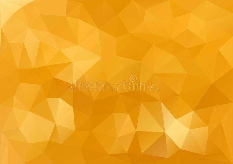 Guld- geometrisk modell stock illustrationer