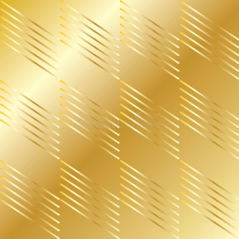 Guld- geometrisk modell vektor illustrationer