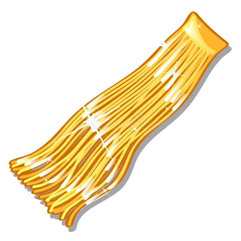 Guld- glitter för jul som isoleras på vit bakgrund Illustration för vektortecknad filmnärbild vektor illustrationer