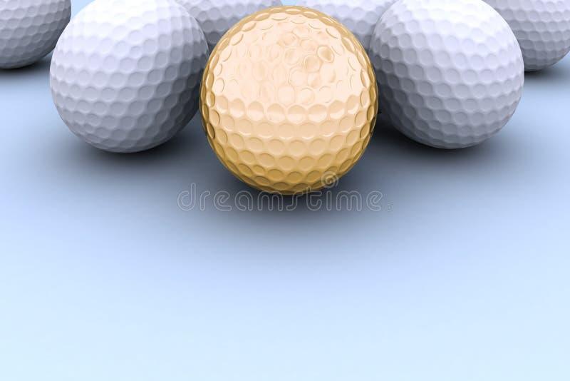 guld- golf för boll royaltyfri bild