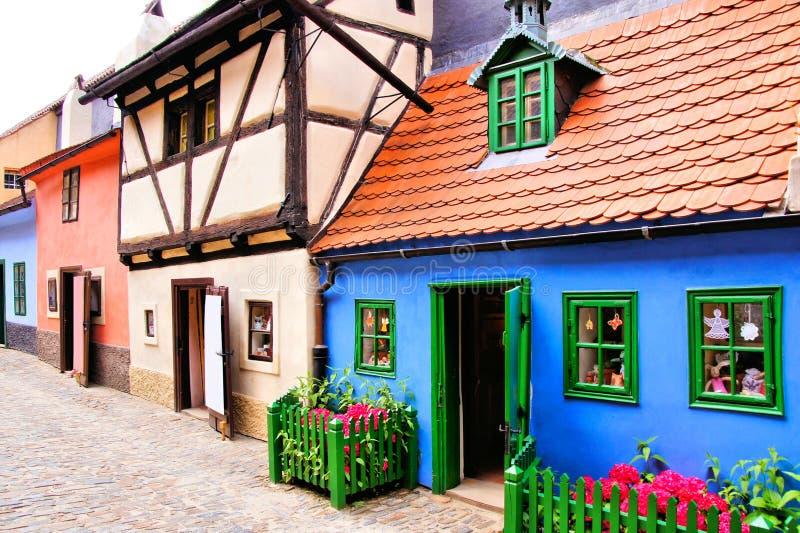 Guld- gränd, Prague arkivbilder