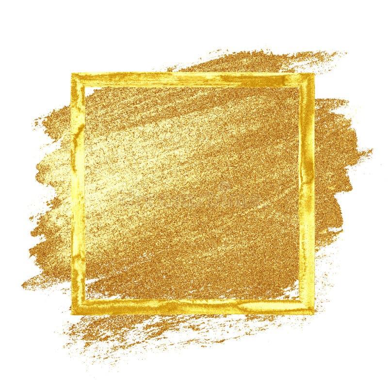 Guld- grungeram vektor illustrationer