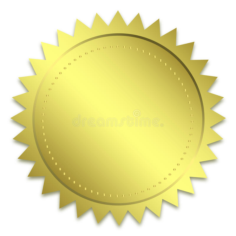 guld- guaranteeskyddsremsa vektor illustrationer