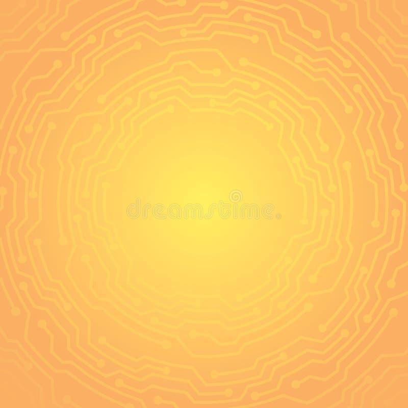 Guld- gul intrig för idérik begreppsmetall stock illustrationer