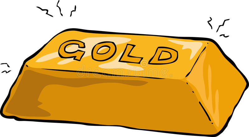 Guld- guldtacka vektor illustrationer