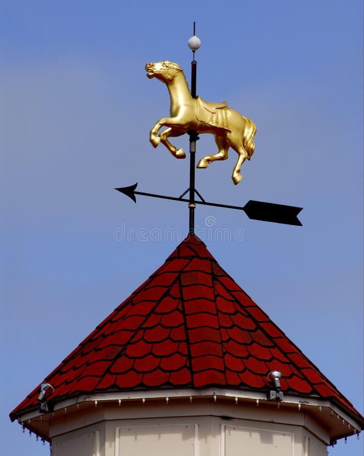 guld- häst arkivbild