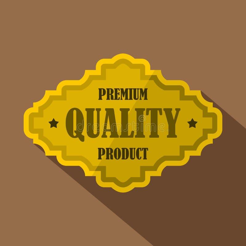 Guld- högvärdig etikettsymbol för kvalitets- produkt stock illustrationer