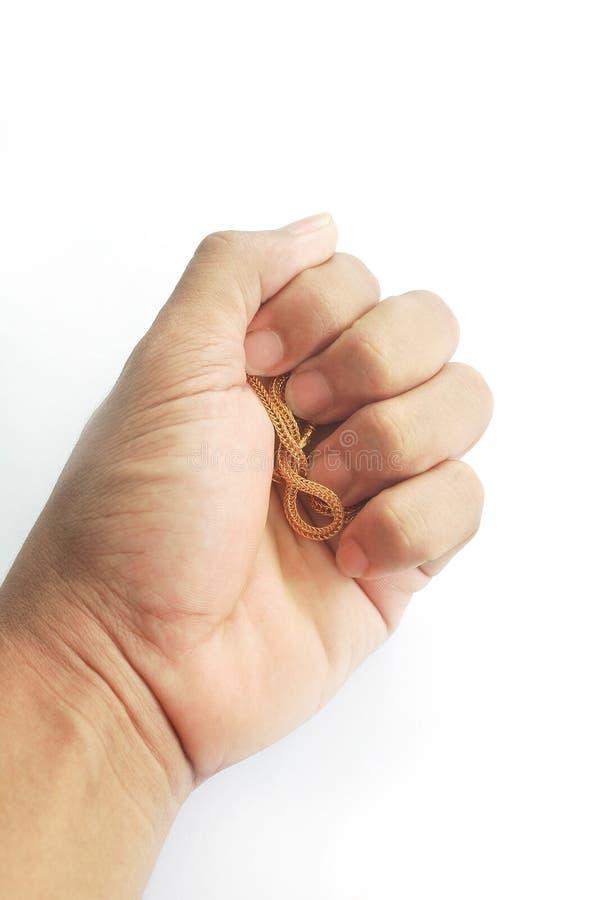 Guld- hals 0 5 gram arkivbilder