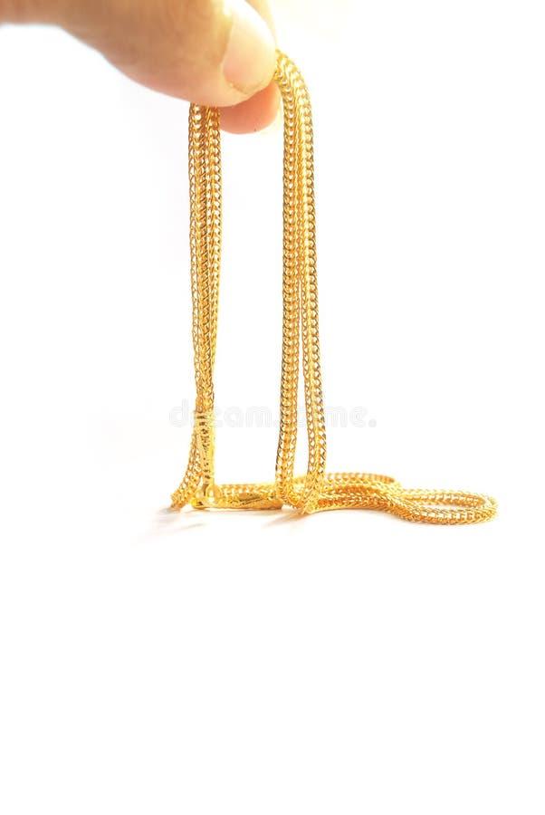 Guld- hals 0 5 gram royaltyfria foton