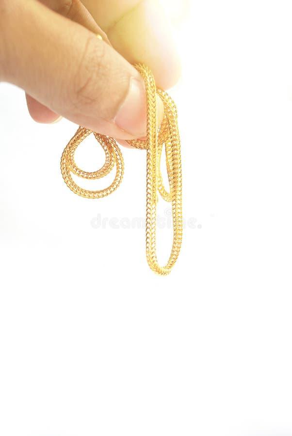 Guld- hals 0 5 gram royaltyfri bild