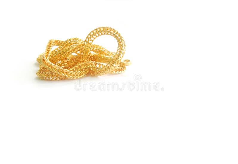 Guld- hals 0 5 gram fotografering för bildbyråer