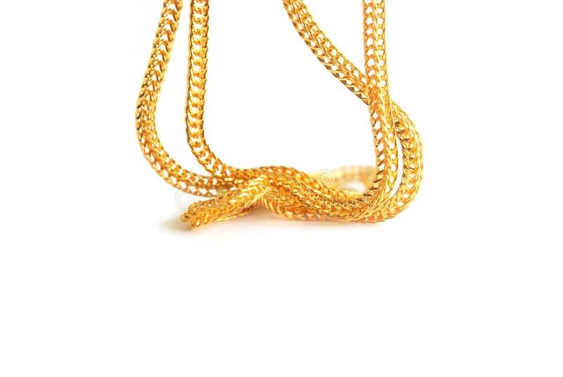 Guld- hals 0 5 gram arkivfoton