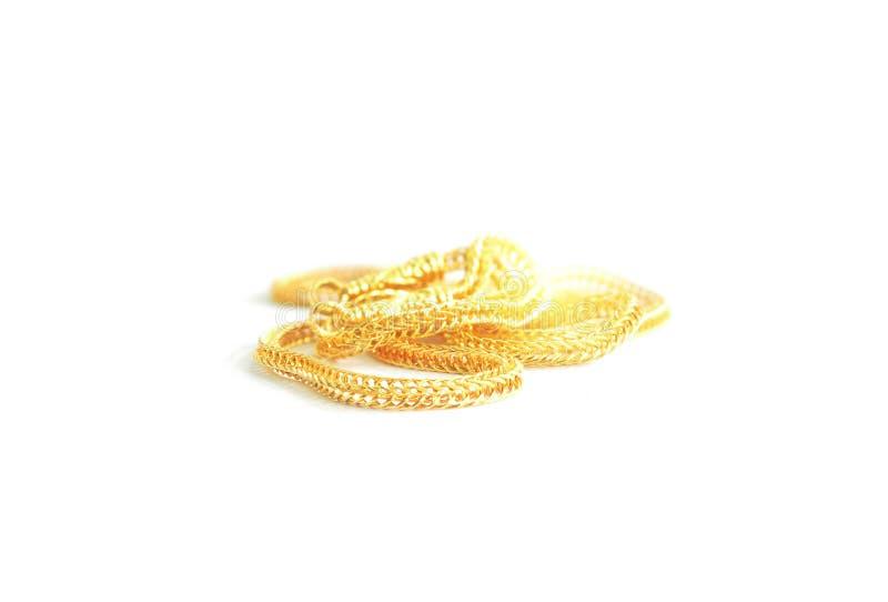 Guld- hals 0 5 gram royaltyfria bilder