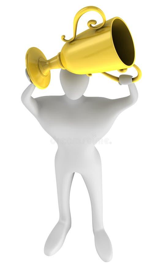 guld hands persontrofén vektor illustrationer