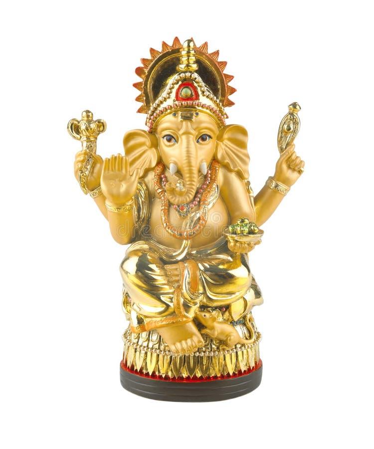 Guld- hinduisk gudganesh arkivfoto