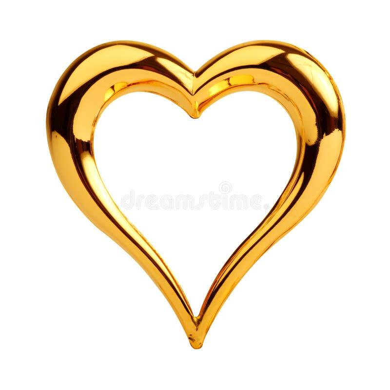 guld- hjärta royaltyfri foto
