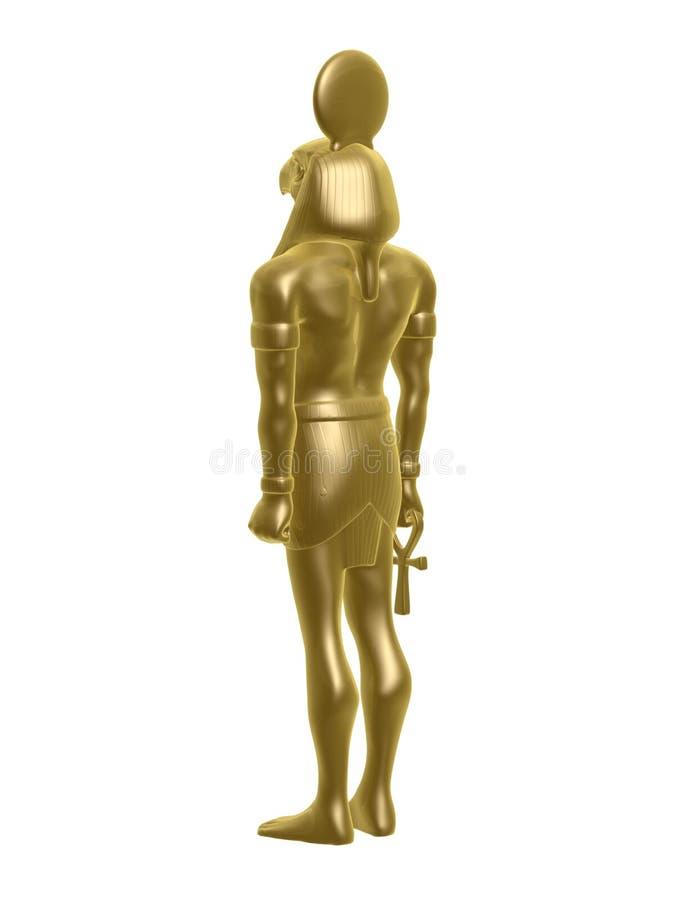guld- horus royaltyfri illustrationer