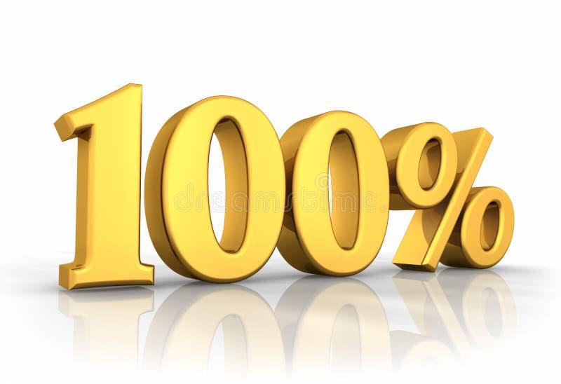guld hundra en procent stock illustrationer