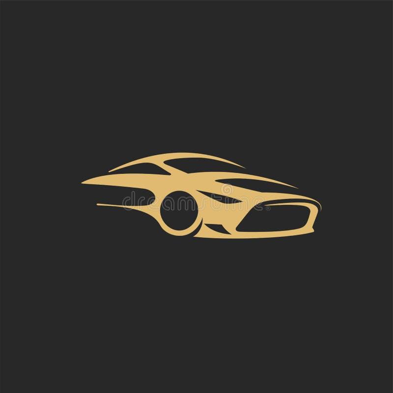 Guld- illustration för vektor för billogomall vektor illustrationer