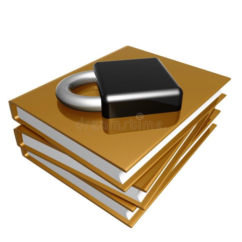 guld- internetsäkerhet för bok royaltyfri illustrationer