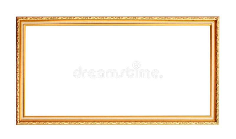 guld- isolerad fotowhite för ram arkivbilder