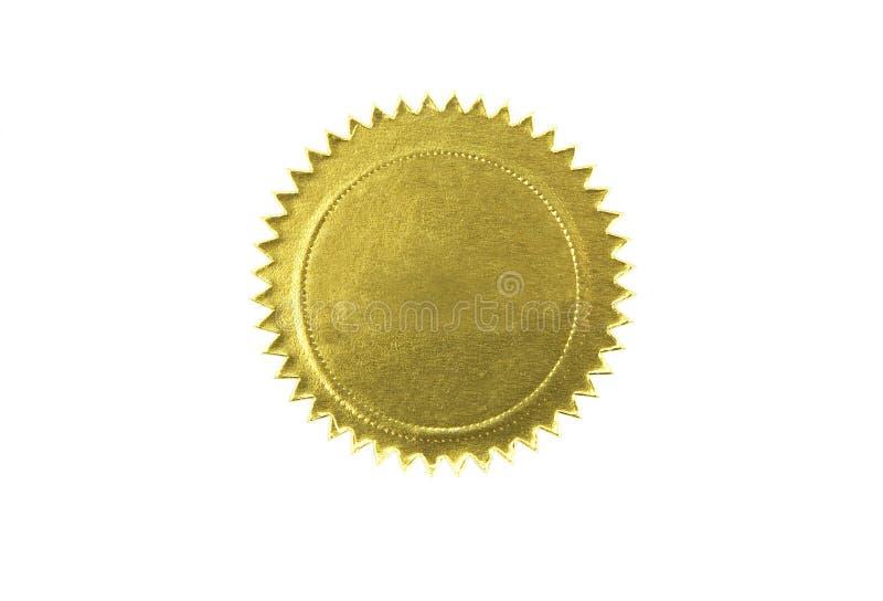 guld- isolerad skyddsremsa royaltyfri bild