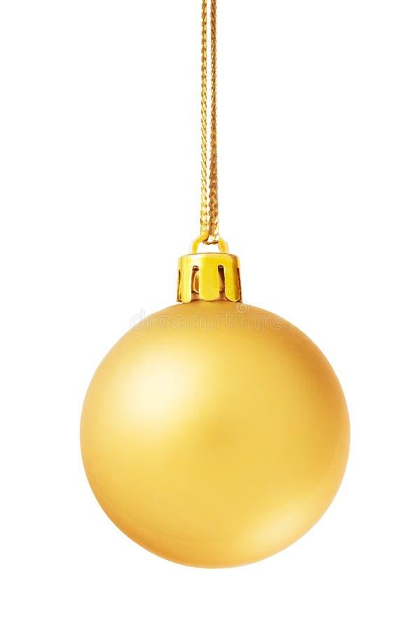 guld- isolerad white för bolljul royaltyfria foton