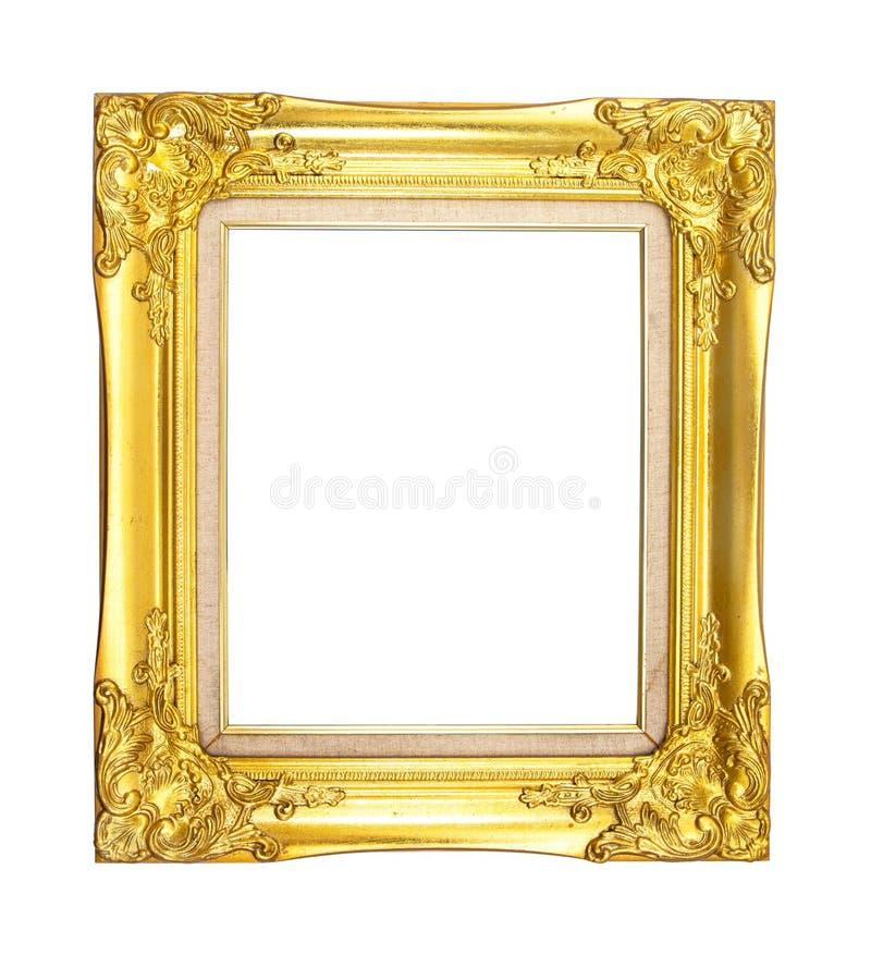guld- isolerad white f?r bakgrundsram royaltyfri bild