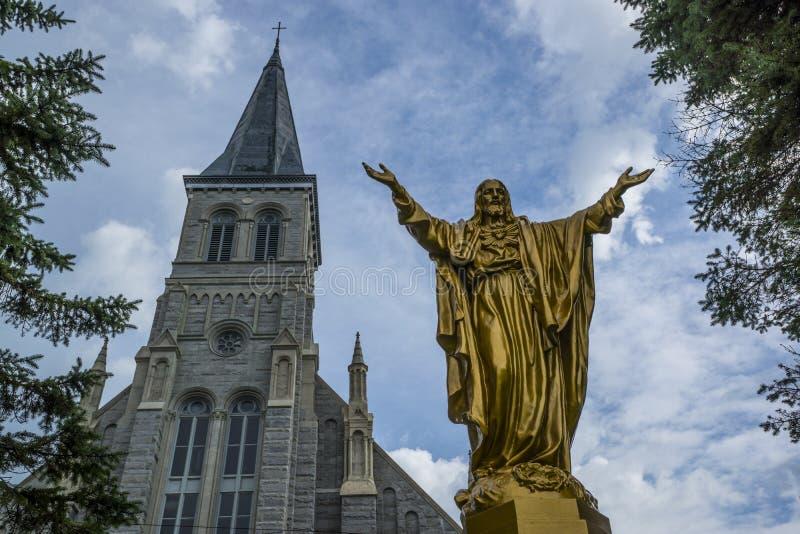 guld- jesus royaltyfri foto