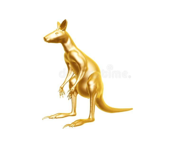 Guld- känguru royaltyfri fotografi