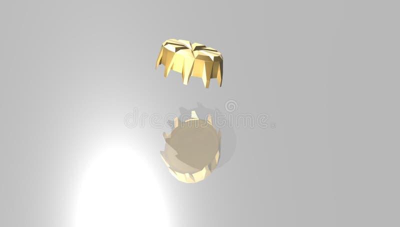 Guld- kapsyl royaltyfria foton